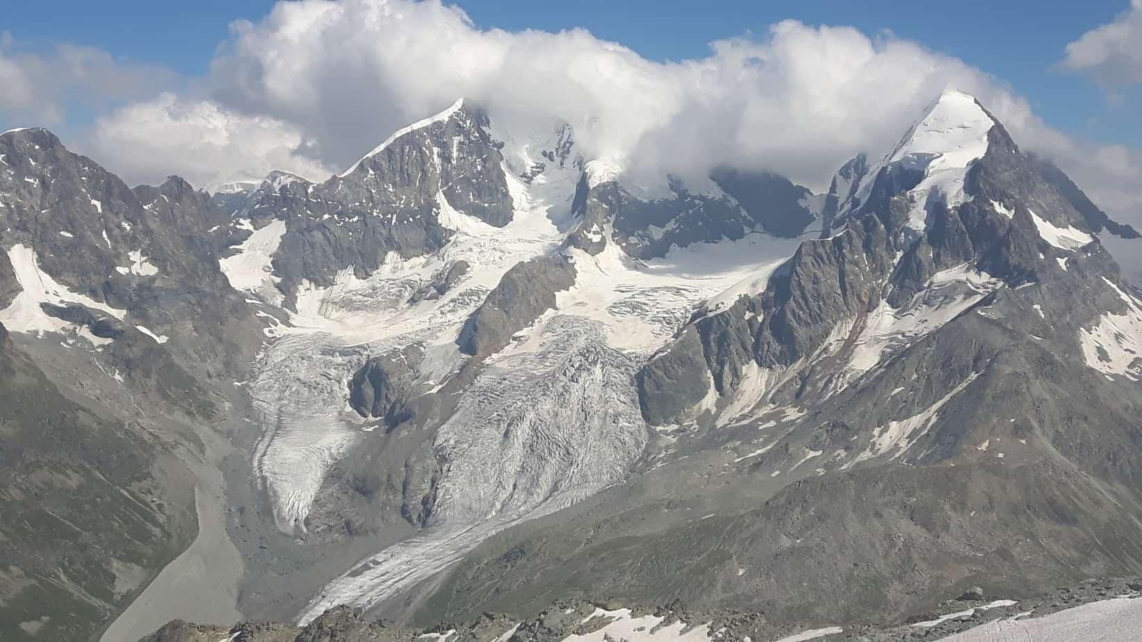 Gletscherrückgang am Bernina-Massiv